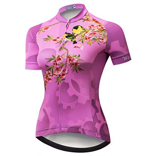 Weimostar Maillot de ciclismo para mujer, camiseta de ciclismo de manga corta,...