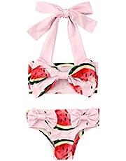 Toddler Girl - Juego de 2 trajes de baño de playa para recién nacidos - Top Shorts - Traje de baño de dos piezas - Ropa de playa para niños