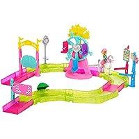 Barbie On the go, Parque de atracciones, muñeca con accesorios (Mattel FHV70)