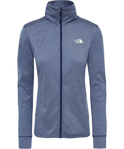 The North Face W Quest Full Zip Mid Fleece Femme, Flag Blue White, FR (Taille Fabricant : XS)