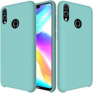 XIANGBAO-Personality case Agio Ultra Slim Shockproof Liquid Silicone Voiced Rubber Comfortable Protective Case for Huawei Honor 8C (Color : Light Blue)