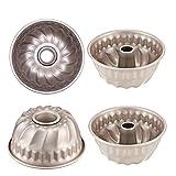 CAN_Deal 4 Molde savarín,10×5cm,Molde para pan Mini antiadherente moldes 4pcs Conjunto
