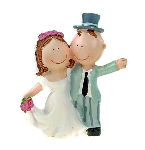 Hochzeitspaar Hochzeit Deko Brautpaar 6 Ring Ehe Figur 9 cm