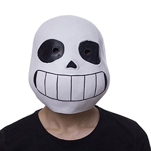 Nsoking Hot Latex Full Head Sans Latex Mask Cosplay Cartoon Skull Mask Pro Kids Mask (Kids Size, Bla