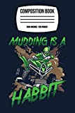 Composition Notebook: 4x4 Atv Quad Vehicle Rider Mud Dirt Bike Offroad Terrain 120 Wide Lined Pages - 6' x 9' - Planner, Journal, College Ruled Notebook, Diary for Women, Men, Teens, and Children
