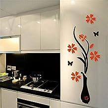 ملصقات حائط اكريليك ثلاثية ابعاد بشكل مزهرية 80 × 40 سم من دي اي واي
