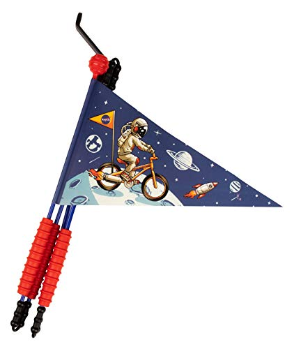 Karl Drais Fahrradfahne Astronaut | Fahrradwimpel NASA | Jungen Sicherheitswimpel Rakete
