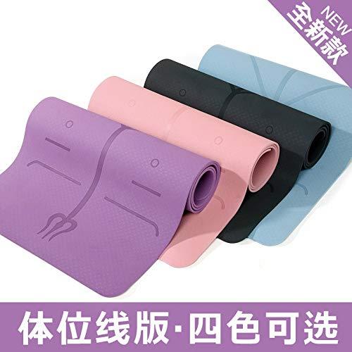 Yoga Mat Tempo Libero Linea Monocromatica Posizione TPE di Protezione dell'ambiente 6 Millimetri insapore Antiscivolo Sport e Fitness (Color : Orange, Size : 183 * 61 * 6MM)