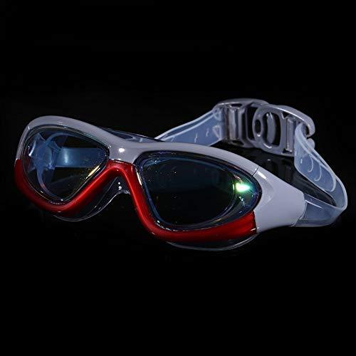 MHP zwembril voor volwassenen, uniseks, kleurcoating, anti-condens- en uv-bescherming, kleur van hoge kwaliteit Metálico