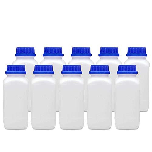 1000 ml Weithalsflasche mit Schraubverschluss chemikalienbeständig Laborqualität Gefahrgutzulassung große Öffnung absolut dicht spülmaschinengeeignet (10)