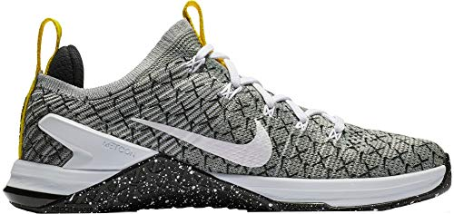 Nike Women's Metcon DSX Flyknit 2 X Training Shoes (Black/White/Yellow, 9 M US)