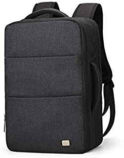 Business Water Resistant Polyester Laptop Backpack with USB Charging Port Fits Under 17Inch Laptop and Notebook