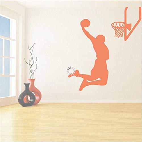Vinyl Re Sports Adesivi murali MVP NBA Basketball Player Lebron James Adesivi murali sportivi Decorazioni per la casa Decalcomanie 53 * 65Cm