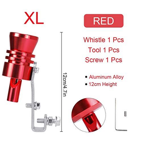 LKK-KK Universal Coche Turbo Whistle Coche Realización Turbo Silbato Escape Tubería Sound Turbo Turbo Tail (Color : Red for XL)