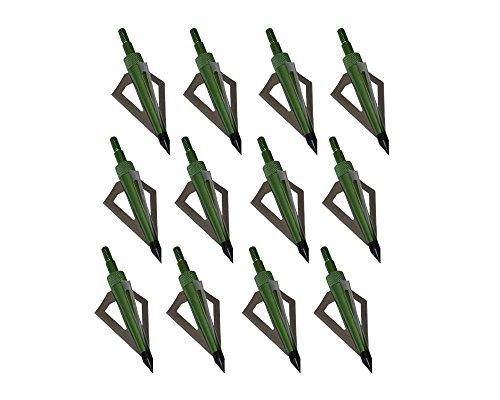 Toparchery 12er Jagdspitzen 3D Pfeilspitze 125 Grains Mit 3 Scharfen Klingen Für Pfeil und Armbrust