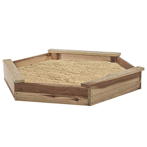 Jack & June Hexagonal Redwood Sand Box Playset
