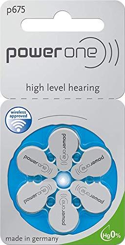 60 Stück (10 Blister) Powerone Typ 675 Hörgerätebatterie Zinc Air P675 PR44 ZL1 mit 2 Stück LUXTOR® Reinigungstücher für Hörgeräte und Otoplastiken