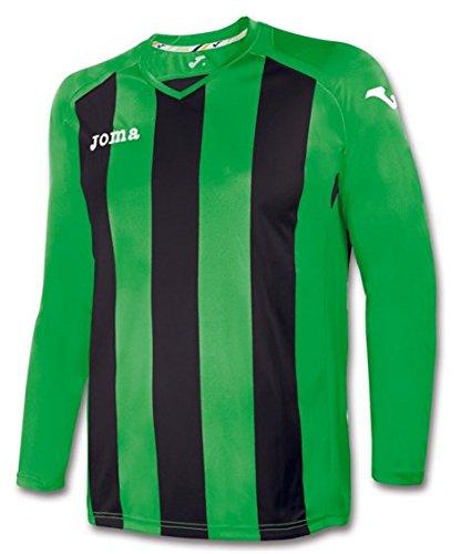 Joma Pisa Maglia Manica Lunga Uomo, Multicolore (Verde/Nero), XS-S