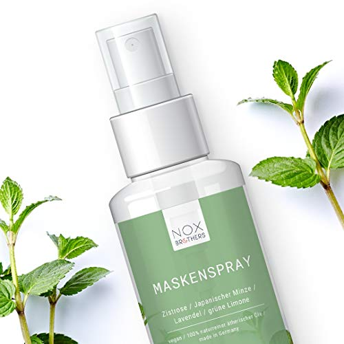 NOX Maskenspray (30 ml) | Für ein besseres Durchatmen und Wohlgefühl beim Tragen von Masken | 100% naturrein und vegan