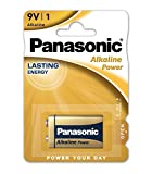 Panasonic Alkaline Power 6 LR 61 5410853039303 - Pila de 9 V, color amarillo