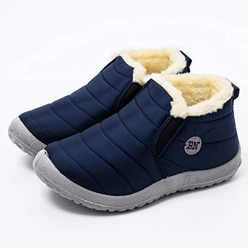 N-B Botas De Nieve Ligeras para Hombre, Calzado De Invierno Impermeable, Talla Grande 47, Unisex