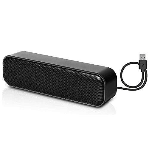 USB Computer Speakers,HONKYOB USB Laptop Speaker Mini Soundbar Speaker USB Powered Speaker for Computer Desktop Laptop PC Checkout Counter, Stereo Sound Enhanced Bass Sound