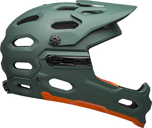 Bell Super 3R MIPS Adult MTB Bike Helmet (Matte Green/Orange (2019), Large)
