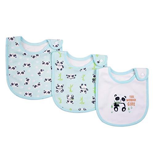 NA. Nangjiang - Pañuelo de algodón para bebé (3 unidades)