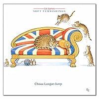 グリーティングカード 多目的 ピーター・クロスシリーズ 「ジャンプする猫と寝ている猫とメジャーを持ったねずみ」 動物 メッセージカード ギフト イギリス製