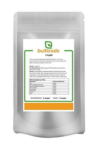 2 x 500 g L-Lysin Pulver   Aminosäure   Lysin HCL   Lysine   100% rein 1 kg
