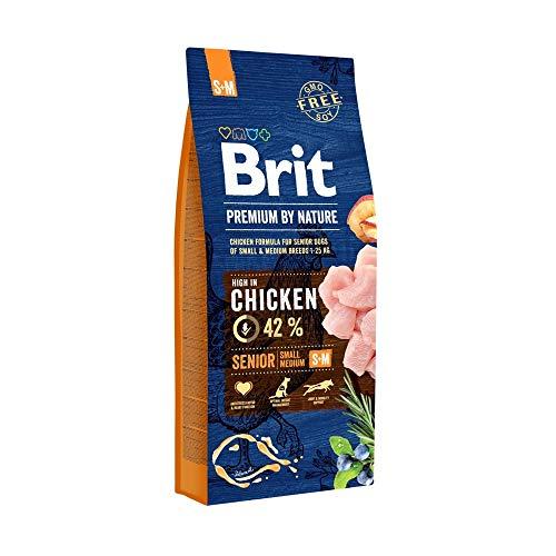 Brit Premium by Nature Senior S + M 15kg Hundefutter Trockenfutter