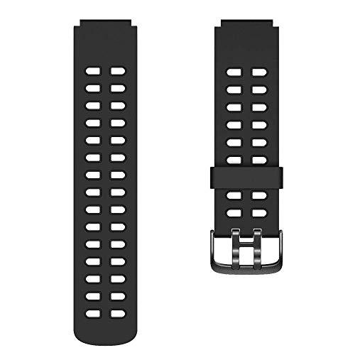 YAMAY SW020 Correa de Repuesto de TPU Ajustable para Smartwatch ID205 (Negro)