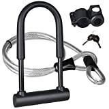 KASTEWILL Bike U Lock Heavy Duty Bicycle U-Lock, Combination Bike U Shackle Secure Locks with 16mm Shackle, 4ft Length Security Cable and Sturdy Mounting Bracket for Bicycle,Motorcycle and More(Large)