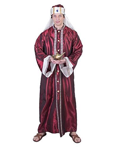 Kostüm Wüstenprinz Latif Einheitsgröße Herren Orient Oriental Gewand Wüste orientalscher Mantel Karneval Fasching Pierros