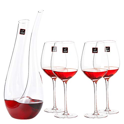 YONGMEI Cáliz - Juego de Copas de Vino de Cristal Hecho a M