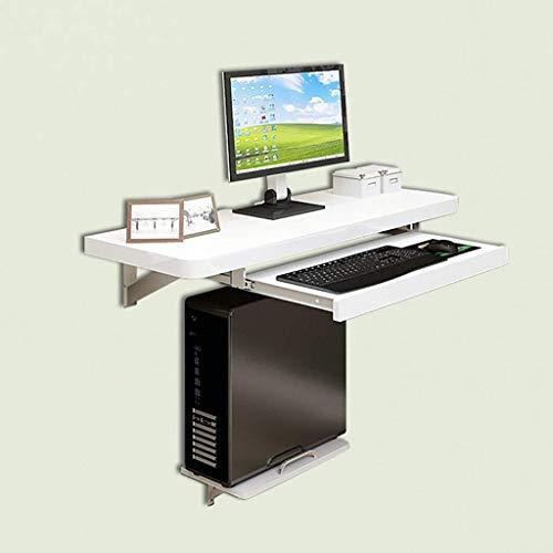 AYHa Plegable montado en la pared Tabla de alas abatibles, escritorio de mesa de ordenador con soportes de acero inoxidable, pintura blanca Proceso cocina comedor Escritorio,1010 mm / 40 pulgadas