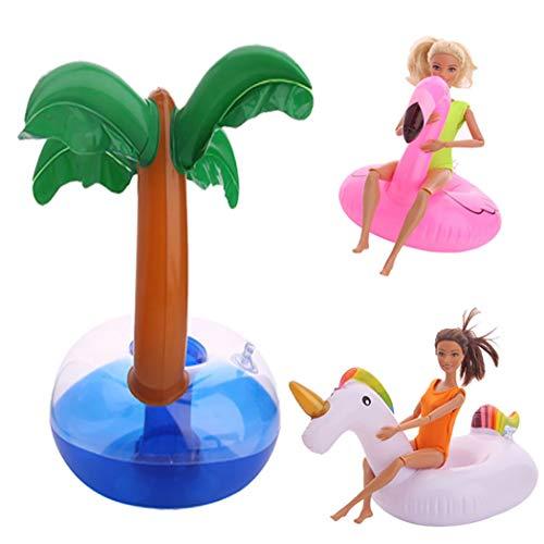 Zoylink 3 STÜCKE Puppe Schwimmen Ring Baby Puppe Schwimmen Spielzeug Kreative Verschiedene Puppenzubehör