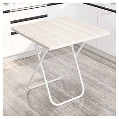 LZL Escritorio portátil multifunción para ordenador de estudio, oficina en casa, escritorio pequeño, mesa de PC de estilo moderno y simple, marco de metal (color: blanco)