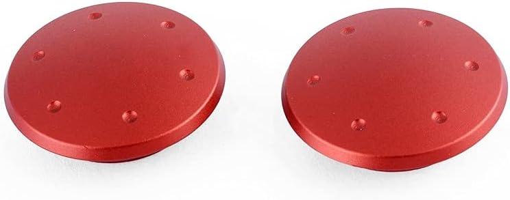 Bloque de Enchufe del Agujero del Espejo de Aluminio del Scooter de la Cubierta de la Placa en Blanco/Ajuste for Vespa GTS300 GTS 300 Accesorios Piezas de Moto (Color : Red)