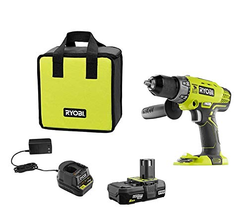 RYOBI P214KSB ONE+ 18V Cordless 1/2-inch Hammer Drill/Driver Kit with Battery and Charger