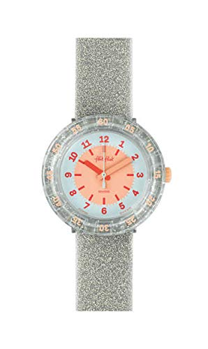 Flik Flak Mädchen Analog Quarz Uhr mit Kunststoff Armband FCSP083