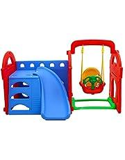 Baybee Garden Slide and Swing Combo for Kids - PlayTool Happy Garden Slider