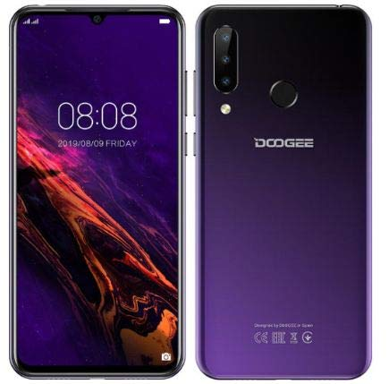 Cellulare Offerta (2019) DOOGEE N20, Octa-core 4 GB RAM 64 GB ROM, Schermo FHD + Waterdrop da 6,3 pollici,Android 9.0 4G Smartphone, 16 MP + 8 MP + 8 MP + 16 MP, 4350 mAh, 10 W Carica rapida Viola