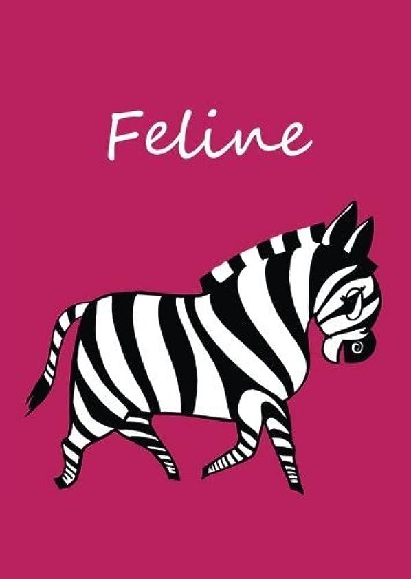 Feline: personalisiertes Malbuch / Notizbuch / Tagebuch - Zebra - A4 - blanko