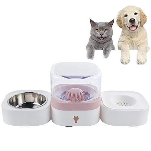 XXDYF Comedero Bebedero Gatos Fuente Automatico, Cuencos para Perros Y Gatos con Dispensador De Agua, Filtro De Carbón Activado, 1.8 L De Gran Capacidad,B