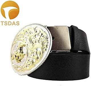 Buckes - Cowboy Belt Buckle Metal Horse Racing Design Golden Oval Belt Buckle Head Christmas Gifts - (Color: 6)