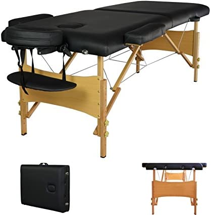 Top 10 Best 2 pad 84 black portable massage table w free carry case chair bed spa facial t Reviews