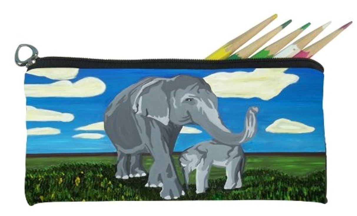 Salvador Kitti Small Pencil Bag (Elephants - Gentle Giants)
