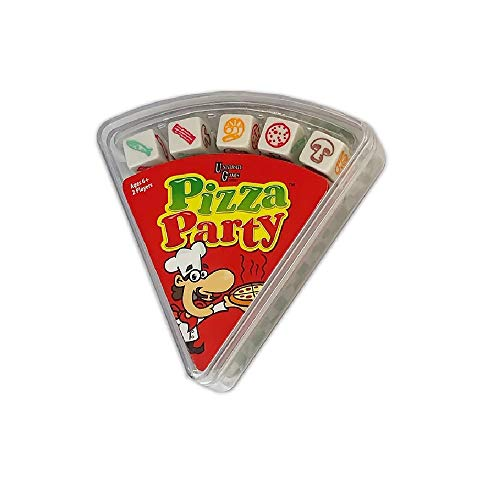 University Games Pizza Party Dice Fast & Frantic Dice Game for Kids ,2 player