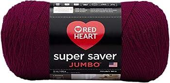 RED HEART RED HEART Super Saver Jumbo Yarn Burgundy - E302C.0376
